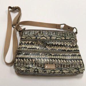 Sakroots crossbody bag purse - black & tan